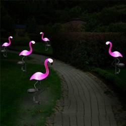 Roze flamingo - solar lamp - waterdichte buitenlamp