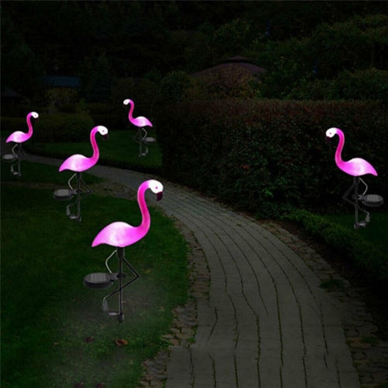 Pink flamingo - solar lamp - waterproof garden light