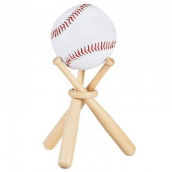 Baseball / golf tennis ball display stand - wooden holder