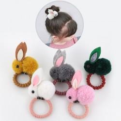 Elastic hair band with rabbit