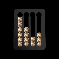 Nespresso coffee capsules holder - tower rack with adhesive tape - rotatable