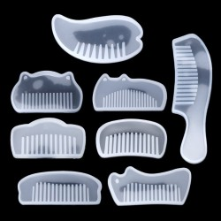 3D - Transparent - Silicone - Comb - Resin Molds