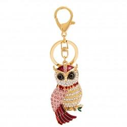 Cute Owl - Rhinestone - Keychain