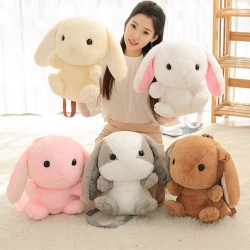 Bunny - rabbit - plush toy - pillow - small backpack - 45cm