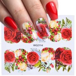 Nagelkunststickers met bloemen