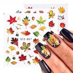 Herfstbladeren - nagelstickers