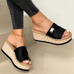 Fashionable high platform sandals - flip flops