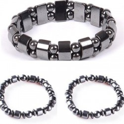 Elastic bracelet with beads - magnetic therapy