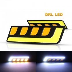 Feux de voiture DRL - LED - COB - étanches - 12V - 2 pièces