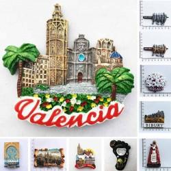 Spanish - fridge magnets - valencia - cathedral