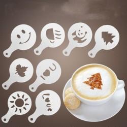 16Pcs - coffee - plastic stencil - decoration