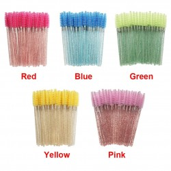 50PCS - Eye Makeup Brush - Pink - Blue