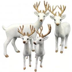 Kerstdecoratie - wit rendier - hert