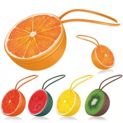 Mini Bluetooth speaker - wireless - with lanyard - fruit shape