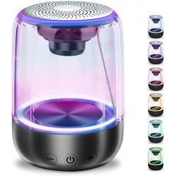 C7 - Bluetooth speaker - portable - wireless - 7-color changing lights - transparent