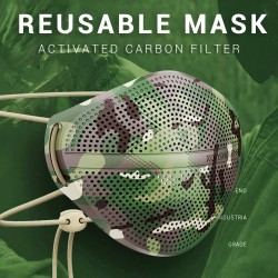 Camouflage - Respirator Face Mask - Silicone - 1pc