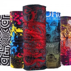 Multifunctional scarf - face / head / neck cover - printed bandana