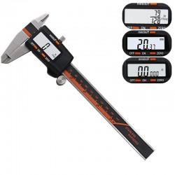 Measuring Tool - Stainless Steel - Digital Caliper - Black - Silver