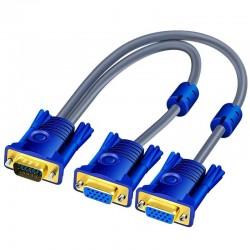 VGA Splitter Cable - Male To Dual Female