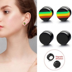 Round magnetic earrings - 10mm