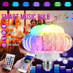 E27 - RGB LED bulb with wireless Bluetooth speaker - remote control - 110V-220V 6W