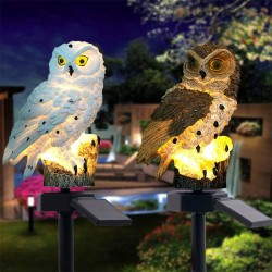 Owl shaped garden light with solar panel - LED - waterproof