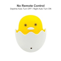 Yellow duck - LED night light - EU wall plug - control sensor - dimmable - remote controller