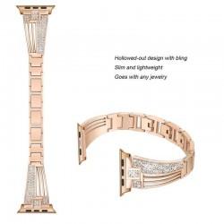 Apple watch stainless steel strap - crystal bracelet