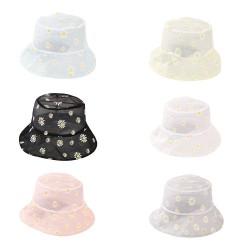 Zonnepet met madeliefjes - hoed