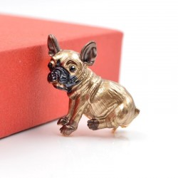 Cute small dog brooches