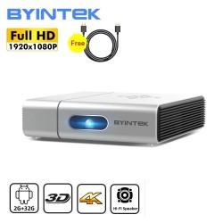 BYINTEK U50 / U50 Pro - full HD - 1080P - 2K 3D 4K - Android - Wifi - LED DLP mini projector
