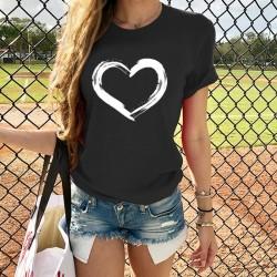 Heart printed t-shirt for women