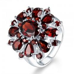 Ruby amethyst ring - 925 sterling silver