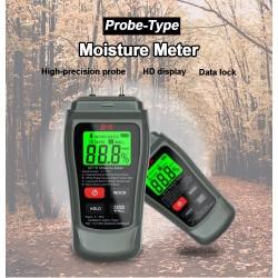 MT-18 - grey - digital tester - wood / paper moisture meter - wall moisture sensor - tester