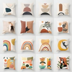 Printed abstract design - cushion cover - polyester - 40 * 40cm - 45 * 45cm