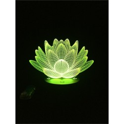 3D lotus - touch control - RGB - LED - USB - night light