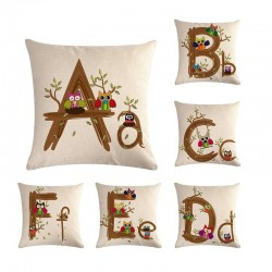 Kids alphabet - cushion cover - cotton - 45 * 45cm