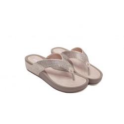 Beach flip flops with sequins - sandals