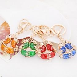 Pisces zodiac sign - crystal keychain