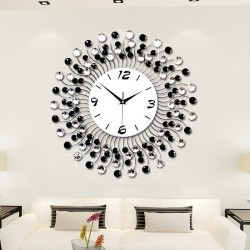 Modern crystal wall clock - iron art design