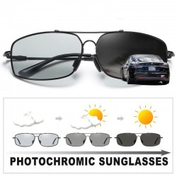 Photochromic metal sunglasses - polarized - day / night driving - UV 400