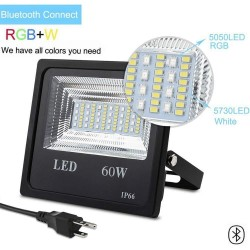 RGB LED Floodlight - 60W - color changing with music - Bluetooth 4.0