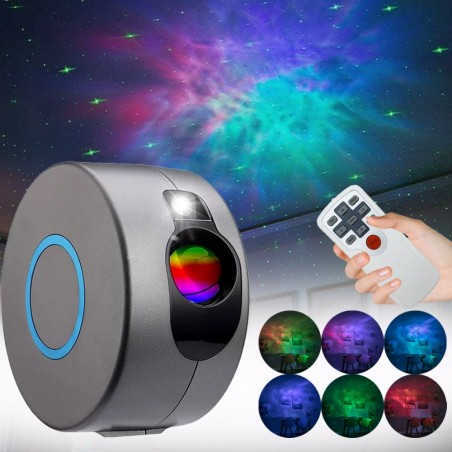 RGB LED galaxy projector - night light