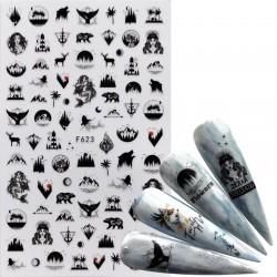 Nail art stickers - cartoon / comics designs