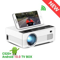 C520 HD 150inch - LED - video - mini projector - Android 10 TV Box - 1080P 3D 4K