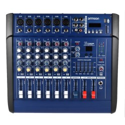 48V - 150W amplifier - 6 channels - audio mixer console - with Phantom power - USB / SD