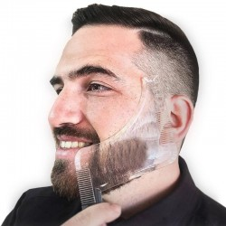 Beard shaper template - double sided shaving tool with comb