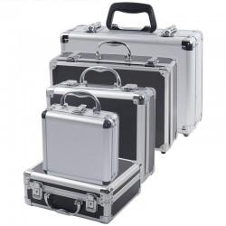 Portable - tools storage suitcase - aluminum box - impact resistance - with sponge