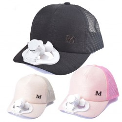 Baseball cap - with electric fan - USB - unisex