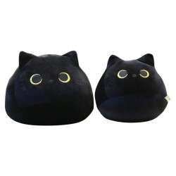 Black cat - cotton pillow - plush toy